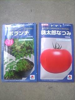 抑制のトマトの種です